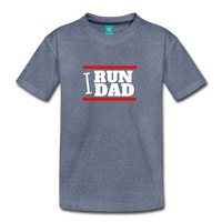 I RUN DAD (Toddler t-shirt) - heather blue