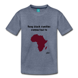Keep Black Families Connected (Toddler T-Shirt) - heather blue