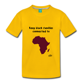Keep Black Families Connected (Toddler T-Shirt) - sun yellow