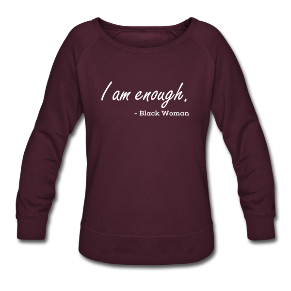 I am enough. - plum