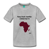 Keep Black Families Connected (Toddler T-Shirt) - heather gray
