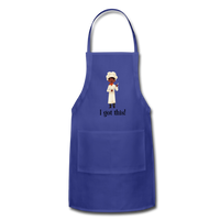 Woman's Apron - royal blue