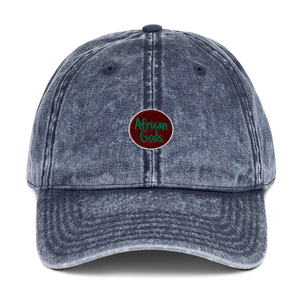 African Gods & RGB Flag (Vintage Cotton Twill Cap)