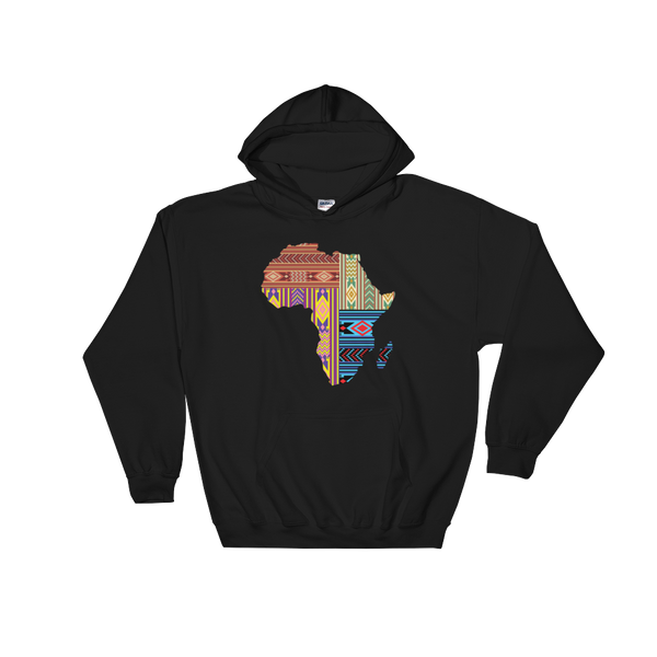 Mixed African Fabric Print (Unisex Hoodie)