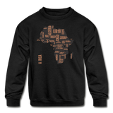 Africa Countries (Kids' Crewneck Sweatshirt) - black