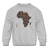 Africa Countries (Kids' Crewneck Sweatshirt) - heather gray