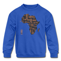 Africa Countries (Kids' Crewneck Sweatshirt) - royal blue