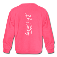 Africa Countries (Kids' Crewneck Sweatshirt) - neon pink