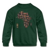 Africa Countries (Kids' Crewneck Sweatshirt) - forest green