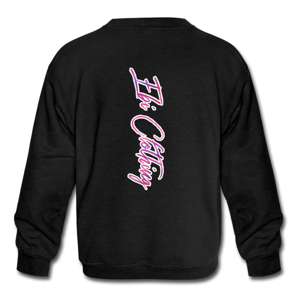 Black & Beautiful (Girl's Crewneck Sweatshirt) - black