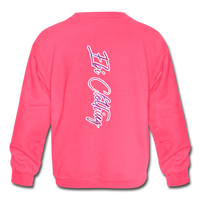 Black & Beautiful (Girl's Crewneck Sweatshirt) - neon pink
