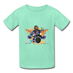 Drummer Boy (Hanes Youth Tagless T-Shirt) - deep mint