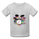Her Drums (Hanes Youth Tagless T-Shirt) - heather gray