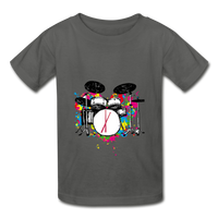 Her Drums (Hanes Youth Tagless T-Shirt) - charcoal