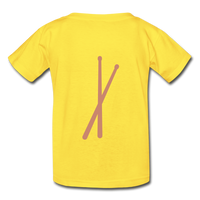 Her Drums (Hanes Youth Tagless T-Shirt) - yellow