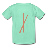Her Drums (Hanes Youth Tagless T-Shirt) - deep mint