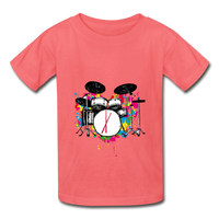Her Drums (Hanes Youth Tagless T-Shirt) - coral