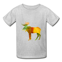 Moose (Hanes Youth Tagless T-Shirt) - heather gray