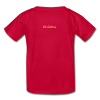 Moose (Hanes Youth Tagless T-Shirt) - red