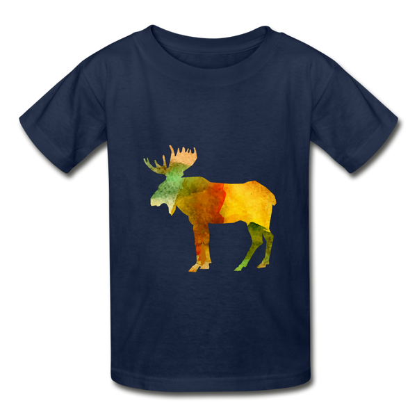 Moose (Hanes Youth Tagless T-Shirt) - navy