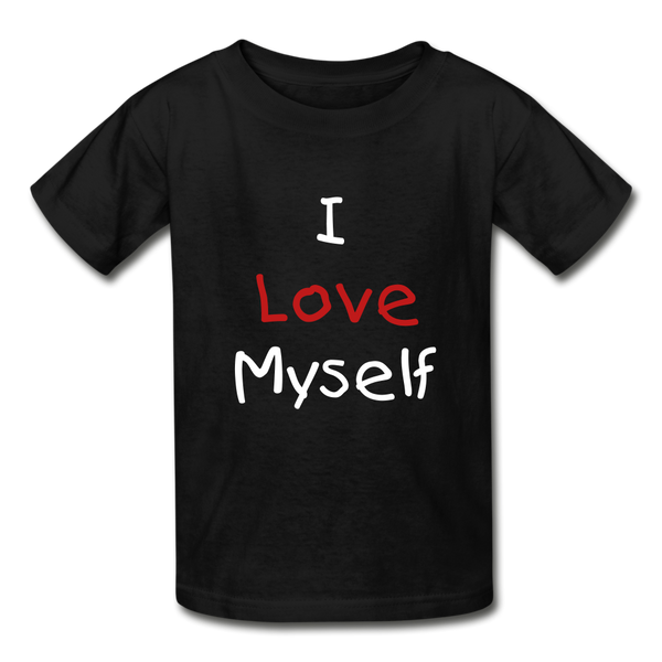 I Love Myself (Hanes Youth Tagless T-Shirt) - black