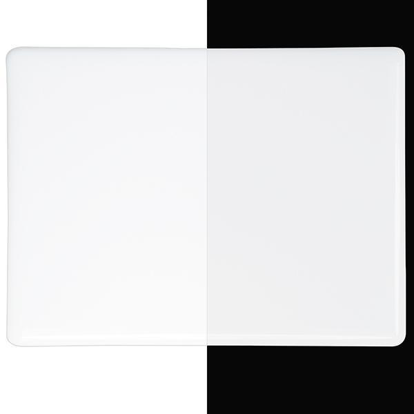 Bullseye Glass 0013-30F 17.5x20 Opaque White half stock sheet