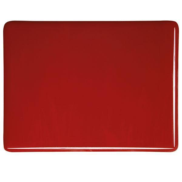 Bullseye Glass 0124-00F 17.5x20 Red - DISC. half stock sheet
