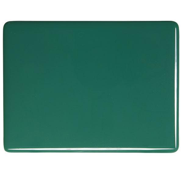 Bullseye Glass 0145-30F 17.5x20 Jade Green half stock sheet