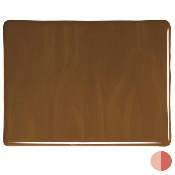 Bullseye Glass 0203-30F 20x35 Woodland Brown full stock sheet