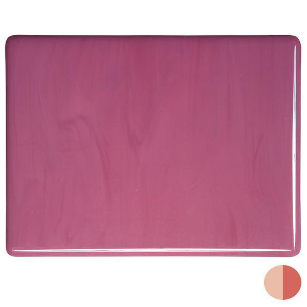Bullseye Glass 0301-00F 17.5x20 (Disc.) Pink half stock sheet
