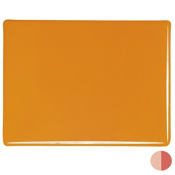 Bullseye Glass 0321-30F 20x35 Pumpkin Orange full stock sheet