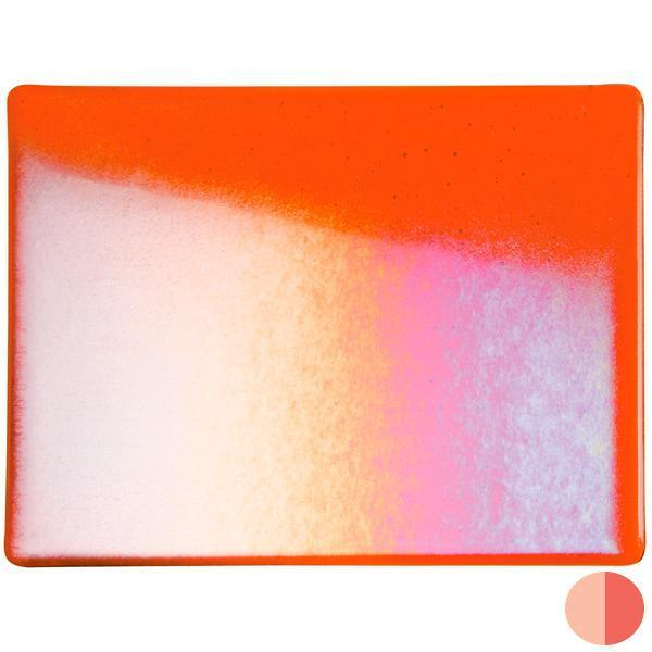 Bullseye Glass 1125-31F 20x35 Orange full stock sheet
