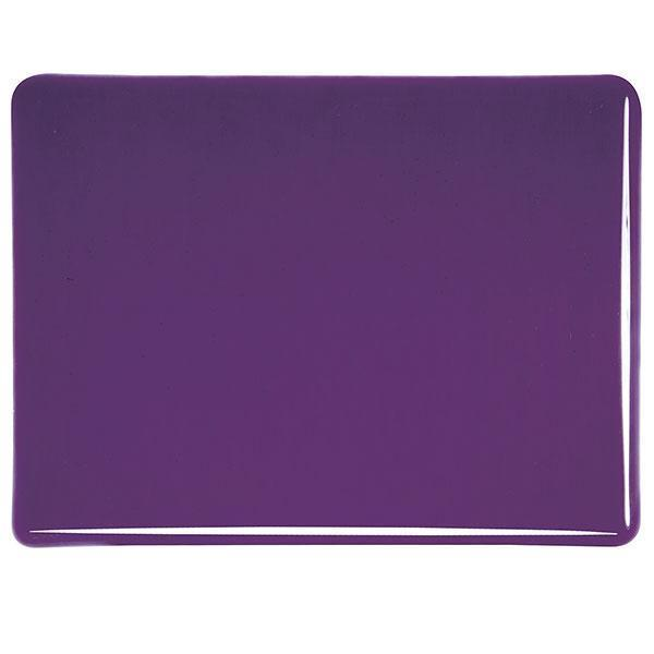 Bullseye Glass 1128-50F 17.5x20 Deep Royal Purple half stock sheet