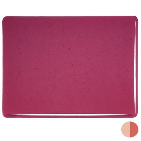 Bullseye Glass 1311-30F 17.5x20 Cranberry Pink Double Rolled (Prices Subject to Change) half stock sheet