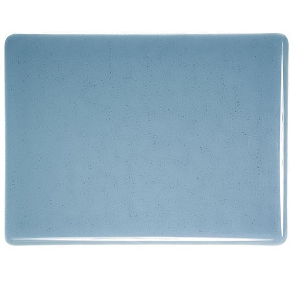 Bullseye Glass 1406-30F 17.5x20 Steel Blue half stock sheet