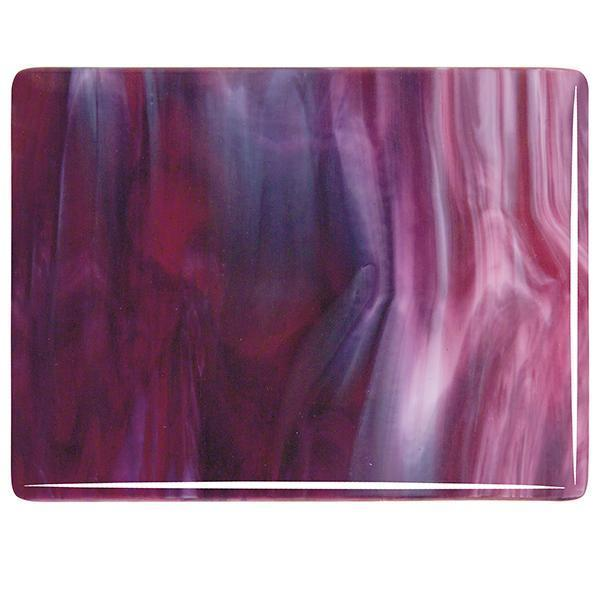 Bullseye Glass 3334-30F 20x35 Cranberry Pink full stock sheet