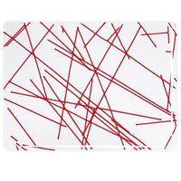 Bullseye Glass 4424-00F 17.5x20 Red Chopstix half stock sheet