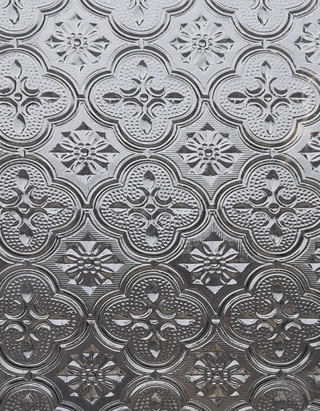 Architectural Glass CLEAR MORISCO 24x48 full stock sheet