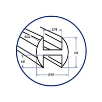 "Lead Came H-Channel Round Cascade (Rh-7 (4%)  1/4"" Box (57)"