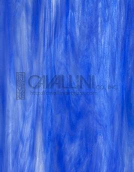 Wissmach Glass WO-118 19x32 Blue/White Wispy sheet 71070984