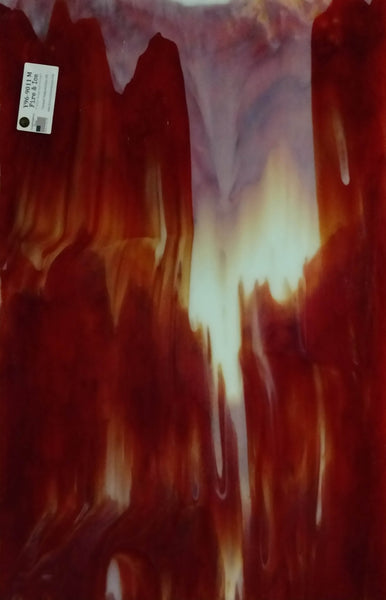 Youghiogheny Glass Y96-9011 18x24 Fire & Ice half stock sheet