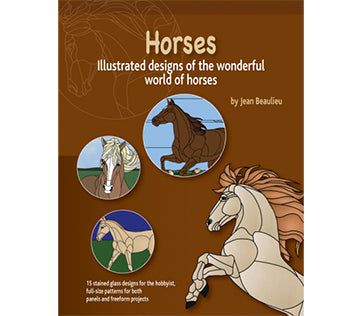Stained Glass Books/Patterns/Dvd/Vhs Horses By Jean Beaulieu
