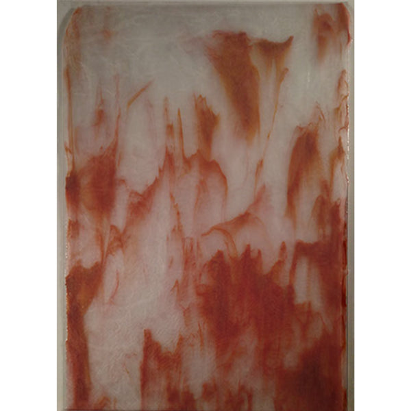 Youghiogheny Glass 1057 R SP 12x18 White Ice quarter stock sheet