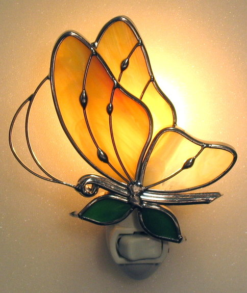 Studio One Giftware 3005 Yellow Butterfly Nightligh 3 High