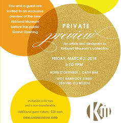 Private Preview for Artists & Designers - March 2