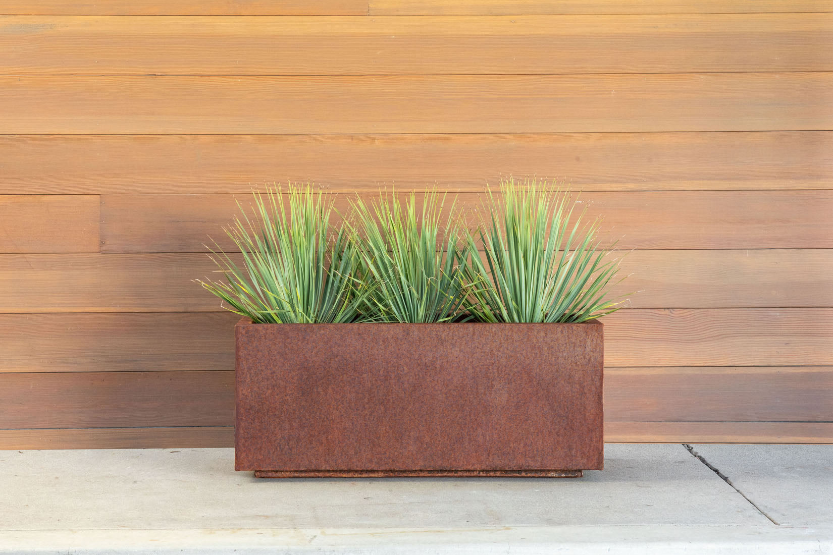 Corten Steel Long Box Planter