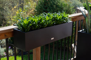 Metallic Series Railing Planter