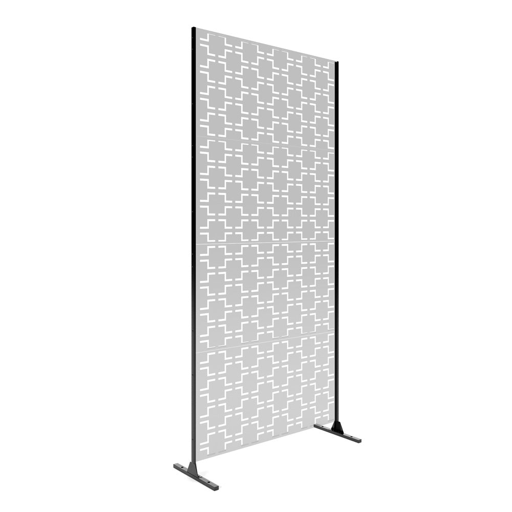 Veradek Metallic Privacy Screen Stand - 4 Panel