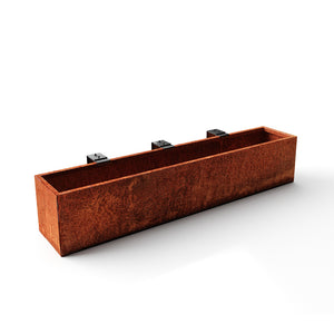 Corten Steel Railing Planter