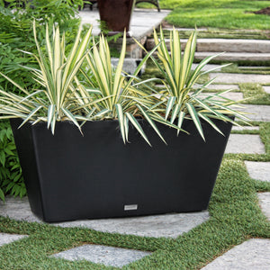 V-Resin Trough Plastic Planter, Modern Planter, Light weight planter, Veradek, indoor and outdoor, self-watering, long planter